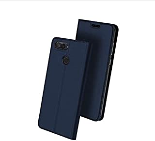 DUX DUCIS leather case flip card holder phone shell anti fall protective sleeve for Xiaomi Mi 8 lite 2018 blue