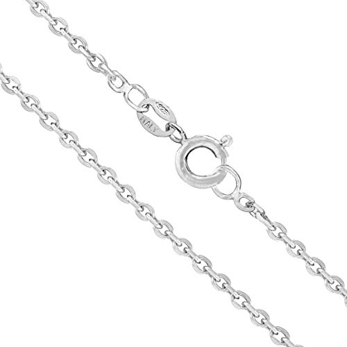 Honolulu Jewelry Company Sterling Silver 2mm Cable Chain (22 Inches)