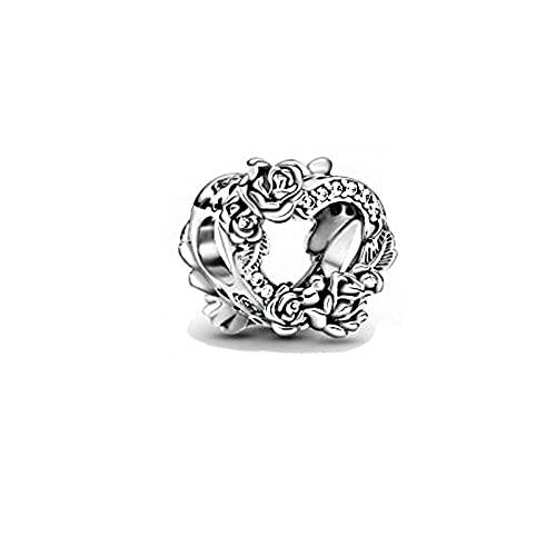 Diy 925 Pandora Alla Hjärtans Dag Hänge Sterling Silver Charms Pärlor Mousserande Hjärta Ägare Original Fit Armband Silver Smycken