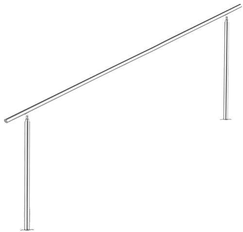 Preisvergleich Produktbild Treppengeländer Edelstahl Handlauf Geländer Balkongeländer Aufmontage Treppe,  Länge:150 cm;Anzahl Streben:0