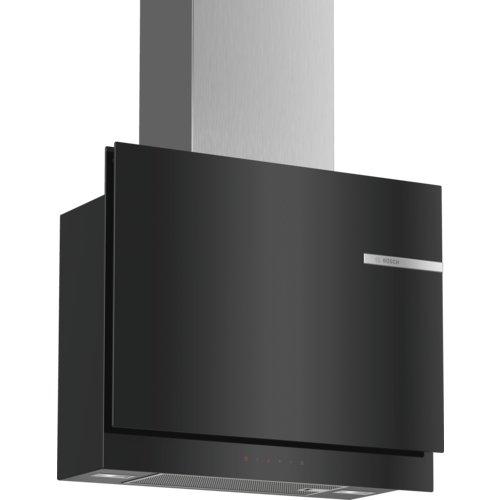 Bosch DWF67KM60 Serie 6 Wandesse/A / 60 cm/Klarglas negro/opcionales de recirculación o de aire/TouchSelect/Silence/Intensividad/Filtro de grasa de metal (apto para lavavajillas)