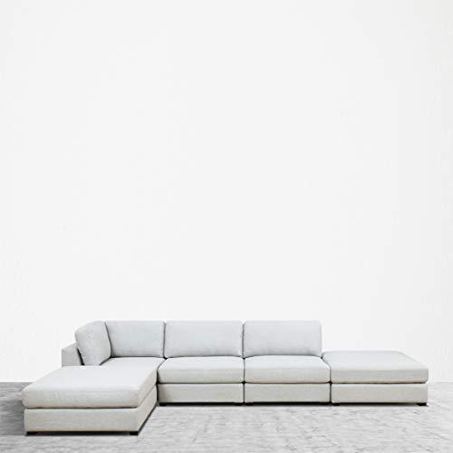UrbanFurnishing.net Reed 5-Piece Modular Customizable and Reconfigurable Deep Seating Sofa Sectional