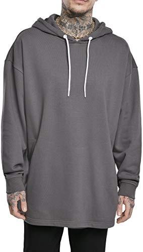 Urban Classics Long Hoody Sweatshirt Capuche, Marron, M Homme