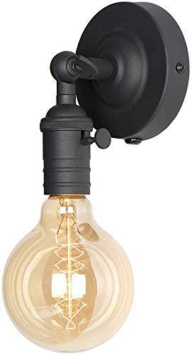 NOTREPP Lámpara De Pared Retro Industrial Ático Luz De Pared Antigua Luz De Pared De Diseño Decorativo,Black