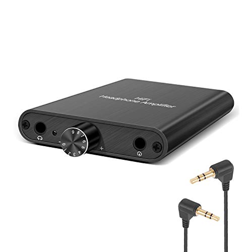 3.5mm Headphone Amplifier High Low Gain Switch Bass On Off Switch Portable HiFi Headset Amplifier Aluminum Matte Shell