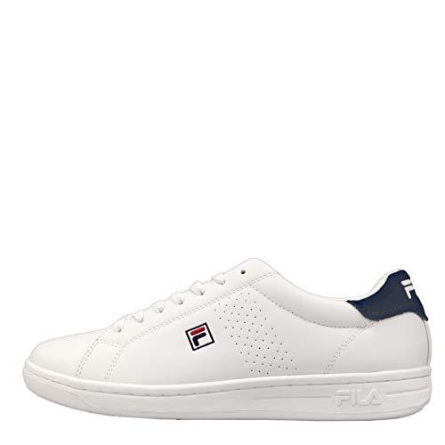 FILA Crosscourt 2 F men zapatilla Hombre, blanco (White/Dress Blue), 44 EU