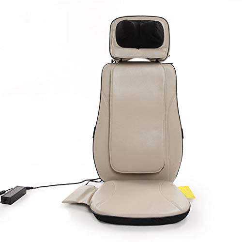 Lzour Adjustable 3D Shiatsu Seat Massage Cushion with Neck Massage Pillow Height and Angle Adjustable