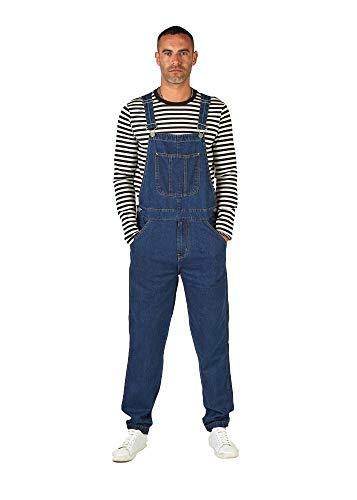 Wash Clothing Company Dave Mens Loose Fit Dungarees - Indigo