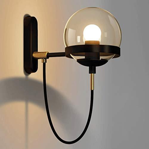 XIN eenvoudige postmodern retro American restaurant cognac glazen bol brons wandlamp