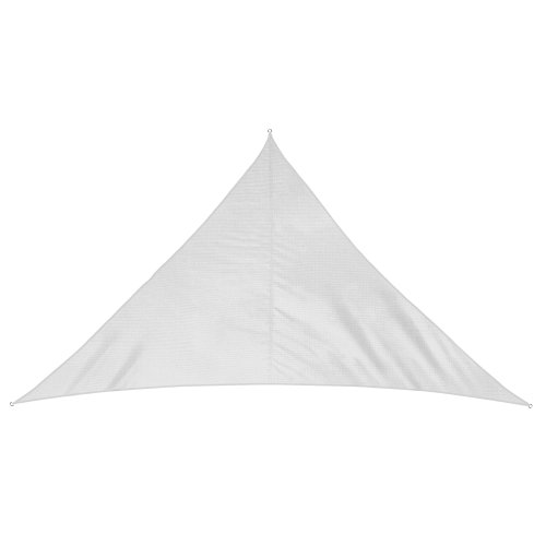 jarolift Voile d'ombrage | Toile d'ombrage | Voile Triangulaire| Tissu Respirant | 600 x 420 x 420 cm, Blanc crème