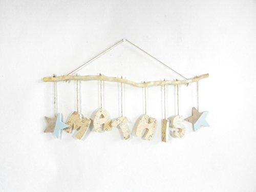 Prénom, lettres en bois, déco enfant/bébé, cadeau de naissance, mobile en bois avec prénom, fabrication artisanale française