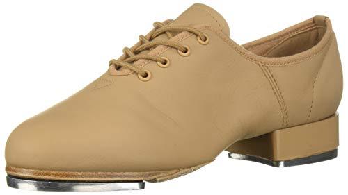 Leo Women's Split Sole Jazz TAP Dance Shoe, tan, 4.5 Medium US