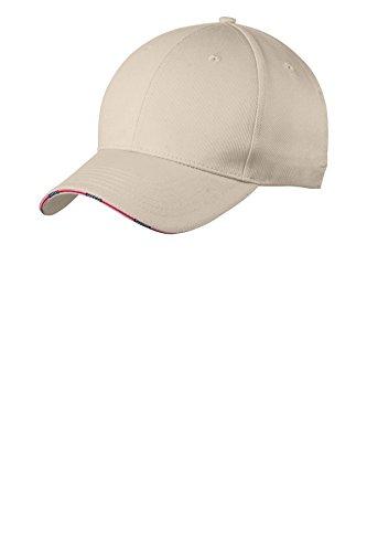 Port Authority® Americana Flag Sandwich Cap. C829 Oyster OSFA