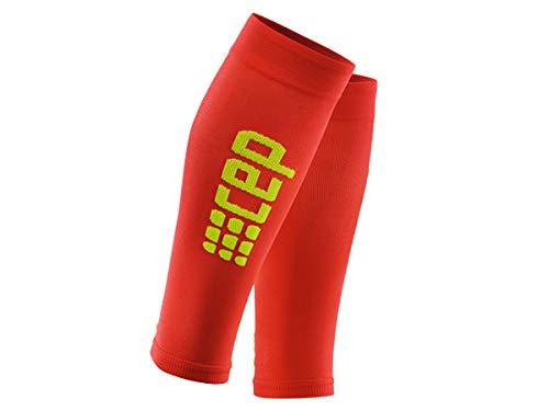 CEP Progressive+ Ultraleichte Kompressions-Beinlinge für Damen, leicht, atmungsaktiv, für Crosstraining, Laufen, Sport, Erholung, Schienbeinkantensyndrom, Waden-Zerrungen und Leichtathletik, unisex, WS45D, rot/grün, Size II
