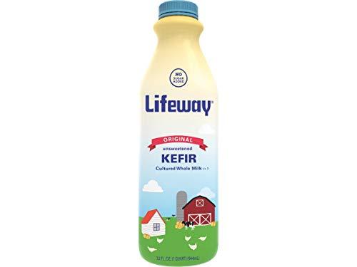 Lifeway Probiotic Original Cultured Plain Unsweetened Milk Kefir, 32 Ounce -- 6 per case.