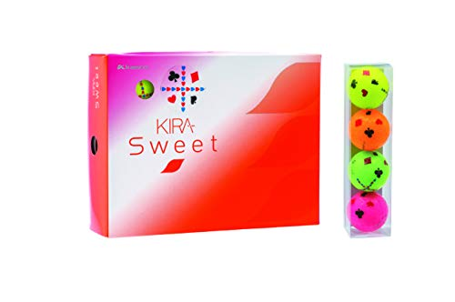 キャスコ(Kasco) ゴルフボール レディース KIRA SWEET トランプ柄 1ダース(12個入り) 4色アソート