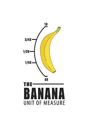 Notizbuch: Banane Maßeinheit Gelb Nerd Lustiges Geschenk 120 Seiten, 6X9 (Ca. A5), Karomuster