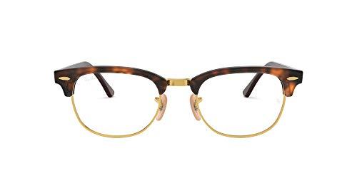 Luxottica S.p.A. Ray-Ban Unisex-Erwachsene 0rx 5154 2372 51 Brillengestell, Rot (Red Havana)