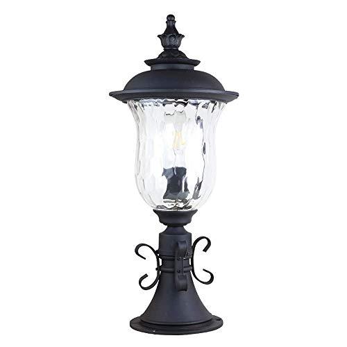 Außenbeleuchtung im europäischen Stil, Lampe Wasserdichte Rostzäune, Glasschirm, Gartenleuchten, Gartenleuchten, Rasen, Landschaft