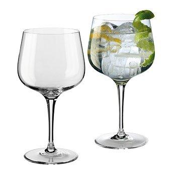 Cristal de BOHEMIA gigante itcentre ALQUITARA un gin tonic es un vaso de vino 700 ml - Set de 2 vasos-