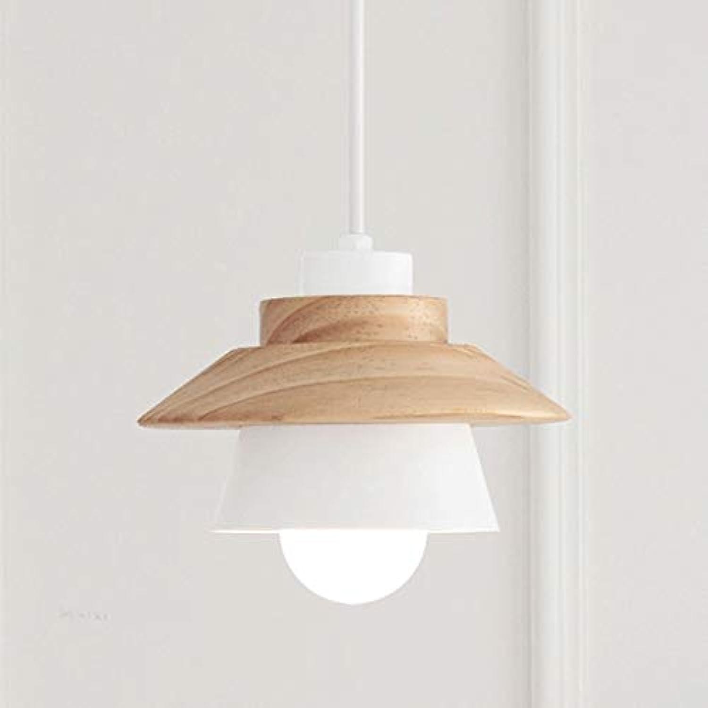 Hai Ying  Nordic Kreative Einfache Moderne Restaurant Lichter Einzigen Kopf Kronleuchter Massivholz Led Mahlzeit Hngen Bar Schreibtisch Einzigen Holz Lampe (Farbe  Wei)