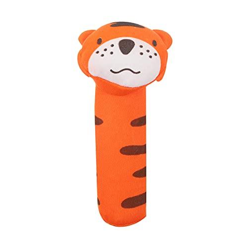 tao pipe Babyrassel, Soft Hand Shaker Cartoon Tiger kastagnetten Spielzeug mit Sound fur Babys Kleinkinder Gehhilfe Anhänger Ornamente