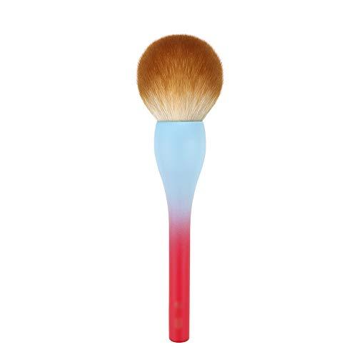 Jia He Pinceau de maquillage Pinceau de maquillage - rayonne, pinceau de maquillage rond portable visage sphère pinceau outil de maquillage professionnel outil de maquillage - dégradé rouge et bleu @@