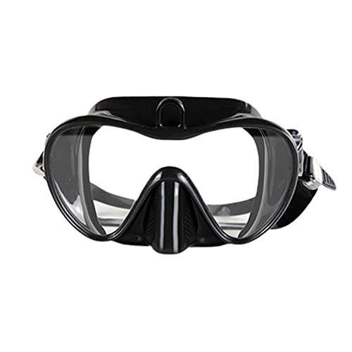 GQTYBZ Premium Snorkel Set para Adultos, MáScara De Buceo Sin Marco Antifugas con Lente De Vidrio Templado Antivaho, Equipo De Tubo De Snorkel FáCil Gafas De Buceo con Vista PanoráMica PanoráMica