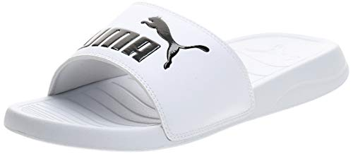 Puma - Popcat 20, Zapatos de Playa y Piscina Unisex Adulto, Blanco (Puma White-Puma Black 02), 43 EU