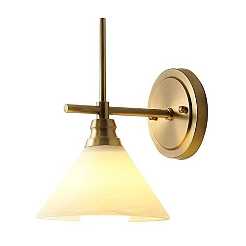 Zziyj Moderna Lámpara De Pared De Noche De Dormitorio Minimalista (1 Paquete, 2 Lámparas De Pared Interior De 2 Nórdicas De La Pared De Cobre De Metal Sala De Estar De La Lámpara Del Pasillo Del Pasil