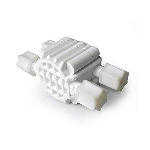 Válvula hidraulica de corte 4 Vías para equipo osmosis inversa, Blanco, Bbagua