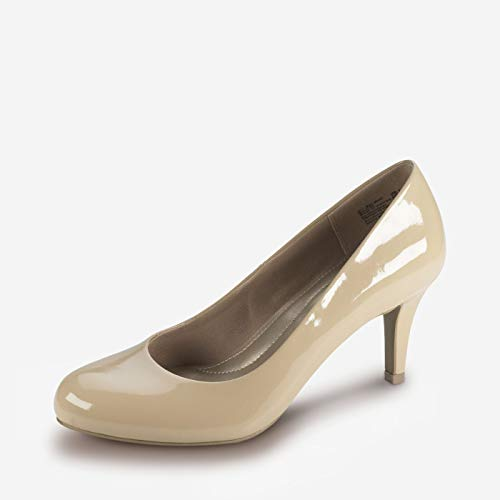 Predictions Comfort Plus Women's Karmen Pump 7.5 Nude Patent