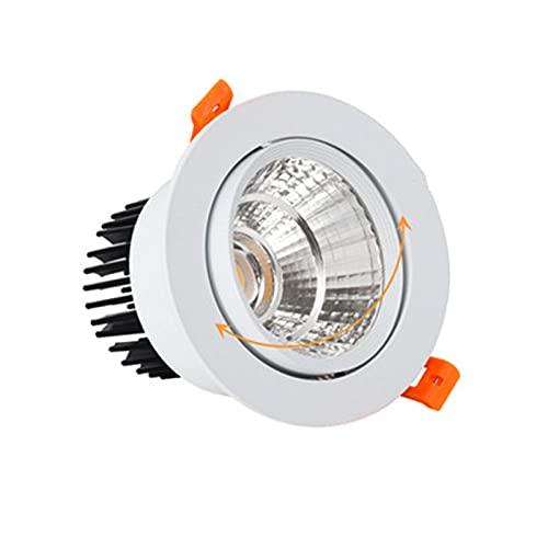 LPsweet Downlight Techo De 2 Paquetes 220V NO DIMMABLE 12W 15W 18W 20W 30W LED Lámpara Empotrada De La Lámpara De Techo para La Iluminación del Hogar,Cool White,15w