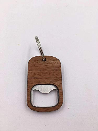 Portable Wooden Bottle Opener Keychain Mountain Deer Bike Anchor Wood Unique Creative Gift (Color : Blank)
