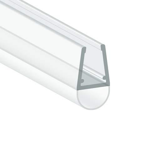 Kraus Premium Duschtür Dichtung [1x 1900mm] - für Glastüren mit 6-8mm Glasstärke - Wasserabweisende Duschdichtung für ihre Duschkabine, Duschabtrennungen oder als Gummilippe Einer Duschtür aus Glas