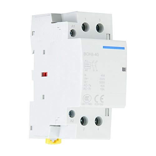 Contactor de CA, 2P 40A 1NO1NC 50/60HZ Contactor de CA Carril DIN...
