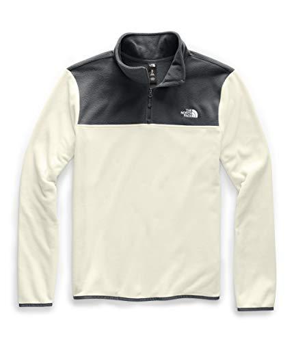 The North Face Men's TKA Glacier Quarter Zip Pullover, Vintage White/Asphalt Grey, Large