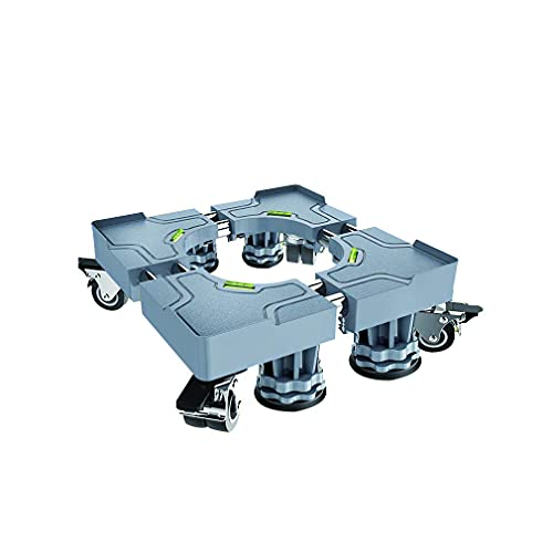 LYMHGHJ Carrito para frigorífico Base con Ruedas Soporte Tubos Dobles Rodillos para electrodomésticos Stent de Alta Resistencia Base Multifuncional para Lavadora y Secadora para Mover Muebles y elec