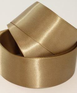 Premium-Satinband, doppelseitig, Meterware, Gold Leaf ( Col 160 ), 25 mm