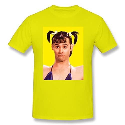 Qienmryt in lebender Farbe Vera De Milo Klassisches Kurzarm-T-Shirt 100 % Baumwolle Gelb - Gelb - 3XL