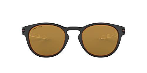 Oakley Herren Latch Borderline Sonnenbrille OO9265, Matte Black / Prizm Bronze, 52