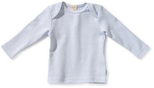 LANA natural wear Pull Col ras du cou Manches longues Mixte bb - Bleu - Blau (sky/natur ) - FR : 3 mois (Taille fabricant : 62)
