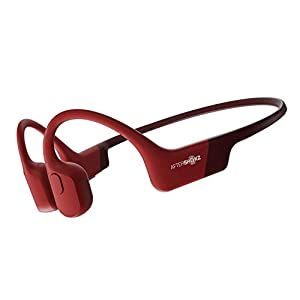 AFTERSHOKZ Aeropex Open-Ear Wireless Bone Conduction Headphones, IP67 Rated, Solar Red
