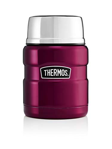 THERMOS Inoxidable Rey Alimentos Frasco, Raspberry, 470 ml