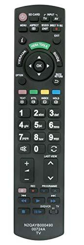 ALLIMITY N2QAYB000490 sub N2QAYB000498 Fernbedienung Ersetzt für Panasonic TV TX-L37G20E TX-L32G20E TX-L32X20E TX-L32X20L TX-L32X25E TX-L32X25ES TX-L32X3B TX-L32X3E TX-L37E3B TX-L37E3E TX-L37S20B