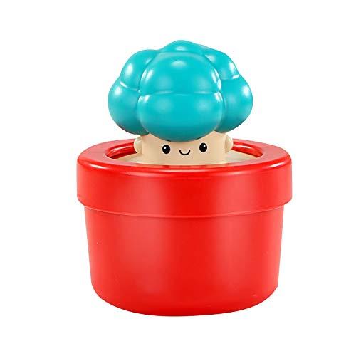 Juguetes de baño de bebé lindos hongos flor Pot Simulación mano Juguete de ducha de agua Juguetes de baño para bebés Juguetes de bañera de bebé para niños mayores de 18 meses Juguetes de baño Squirt