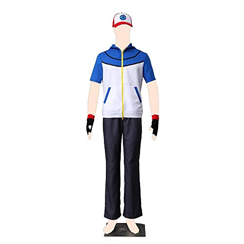 Dream2Reality Pokemon Cosplay Costume Ash Ketchum Large