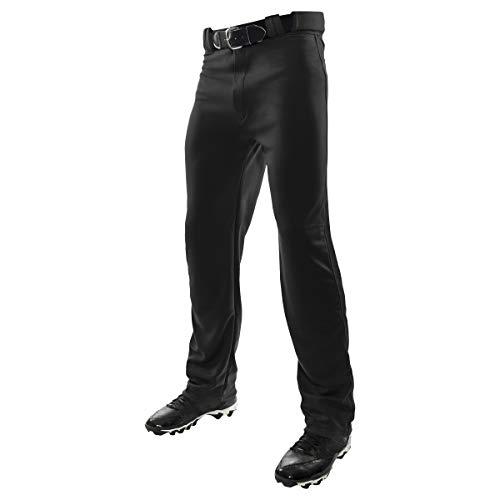 Champro Jungen Youth Open Bottom Relaxed Fit Pants MVP Baseball-Hose mit offenem Boden, entspannte Passform, schwarz, X-Small