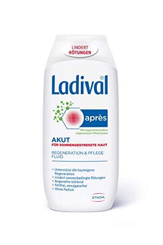 Ladival Akut Après Beruhigungs-Fluid – Kühlende After Sun Lotion zur Hautregeneration nach dem Aufenthalt in der Sonne – 200 ml