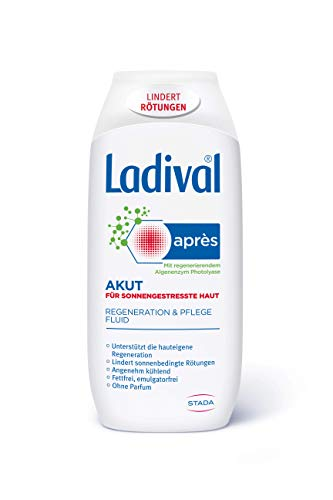 Ladival Akut Après Beruhigungs-Fluid – Kühlende After Sun Lotion zur Hautregeneration nach dem Aufenthalt in der Sonne – 200 ml